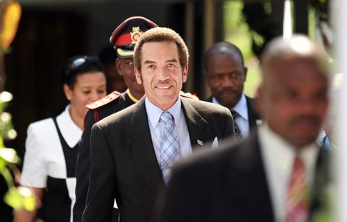 Ian Khama, ο πρόεδρος (αρχηγός του κράτους στη χώρα) της Μποτσουάνα