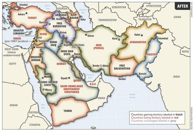Μ. Ανατολή - οι χώρες που κερδίζουν συνεχώς έδαφος (μαύρο) και οι χώρες που χάνουν έδαφος (κόκκινο)2