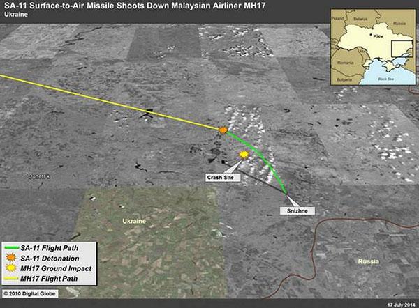 Πτήση MH17 - δορυφορική εικόνα της Digital Globe, τραβηγμένη το 2010