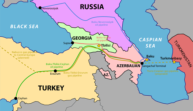 Αγωγός Τουρκμενιστάν, Αζερμπαϊτζάν, Τουρκία, Ευρώπη