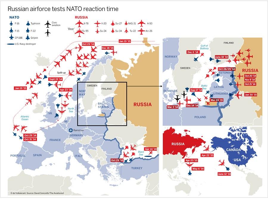 ΧΑΡΤΗΣ-Ρωσία-ΝΑΤΟ-αεροπορικές-παραβιάσεις