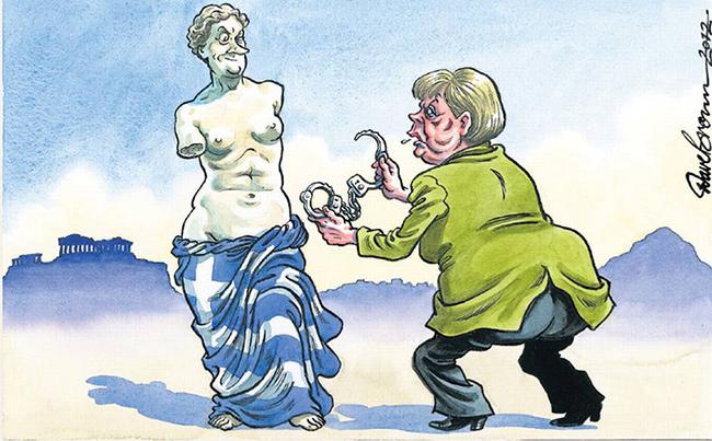 ΕΙΚΟΝΑ---Ελλάδα,-Γερμανία,-Μέρκελ Το γερμανικό πραξικόπημα