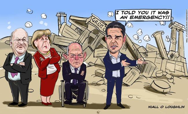 ΕΙΚΟΝΑ - Ελλάδα, Ευρωζώνη Ήττα κατά κράτος